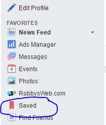 save a facebook post